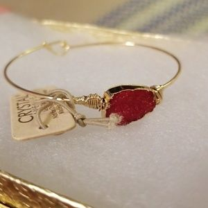 Jewelry - Crystal Avenue Red Druzy Bracelet